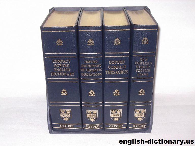 Mengulas Kamus Shorter Oxford English Dictionary